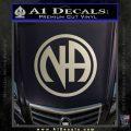 Na Narcotics Anonymous Single Circle D1 Decal Sticker Metallic Silver Emblem 120x120