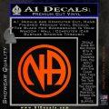 Na Narcotics Anonymous Single Circle D1 Decal Sticker Orange Emblem 120x120