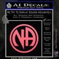 Na Narcotics Anonymous Single Circle D1 Decal Sticker Pink Emblem 120x120