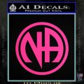 Na Narcotics Anonymous Single Circle D1 Decal Sticker Pink Hot Vinyl 120x120