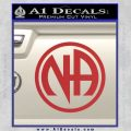 Na Narcotics Anonymous Single Circle D1 Decal Sticker Red 120x120