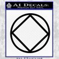 Narcotics Anonymous N.A. Decal Sticker C S Black Vinyl 120x120