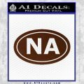 Narcotics Anonymous Na Euro D2 Decal Sticker BROWN Vinyl 120x120