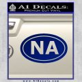 Narcotics Anonymous Na Euro D2 Decal Sticker Blue Vinyl 120x120