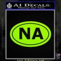 Narcotics Anonymous Na Euro D2 Decal Sticker Lime Green Vinyl 120x120