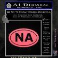 Narcotics Anonymous Na Euro D2 Decal Sticker Pink Emblem 120x120