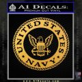 Navy Decal Sticker Seal Gold Vinyl 120x120