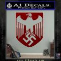 Nazi Eagle Crest D1 Decal Sticker DRD Vinyl 120x120