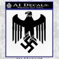 Nazi Eagle Crest D2 Decal Sticker Black Vinyl 120x120
