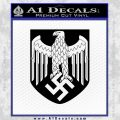 Nazi Heer Decal Sticker For Helmet Black Vinyl 120x120