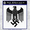 Nazi Heer Helmet D3 Eagle Decal Sticker Black Vinyl 120x120