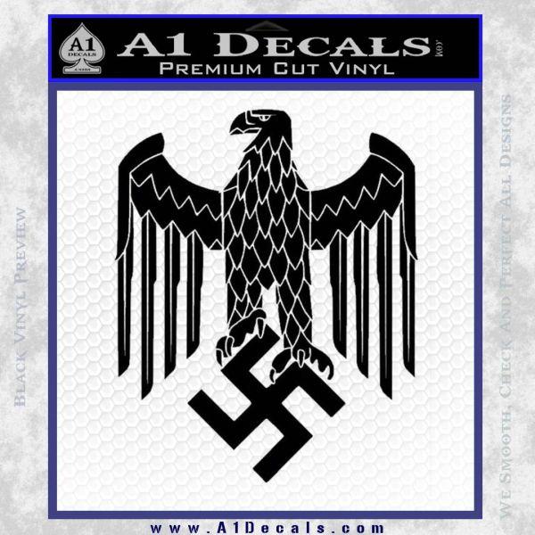 Nazi heer helmet d3 eagle decal sticker black vinyl
