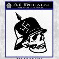 Nazi Helmet Spike Skull WW2 Swastika Decal Sticker Black Vinyl 120x120