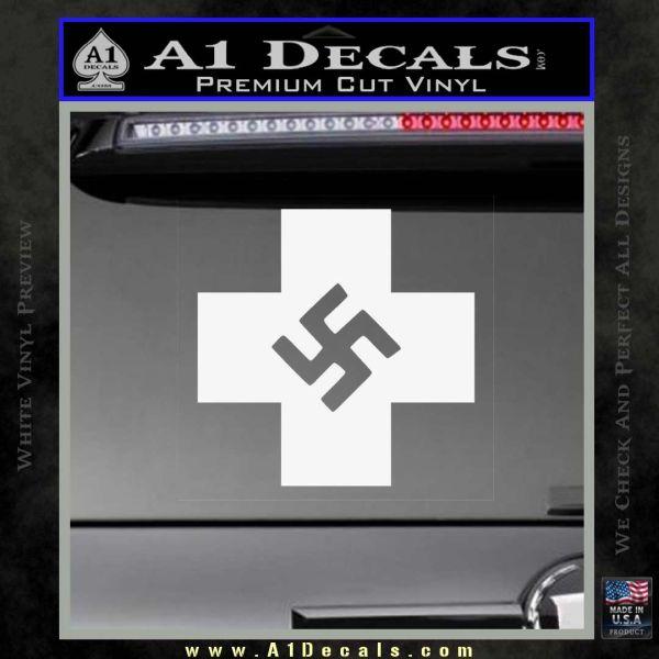 Nazi Red Cross Swastika Decal Sticker 187 A1 Decals