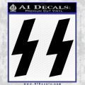 Nazi SS Decal Sticker Black Vinyl 120x120
