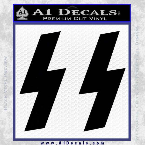 Nazi ss decal sticker black vinyl