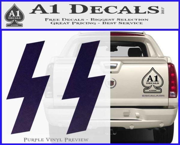 Nazi SS Decal Sticker A Decals - Badass decals for trucks