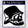 Nazi Skull Helmet WW2 Decal Sticker Black Vinyl 120x120