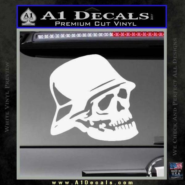 Nazi skull helmet ww2 decal sticker gloss white vinyl 120x120