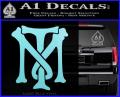Scarface Tony Montana Crest Decal Sticker 2 120x97