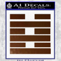 Snake Eyes Clan Logo D2 Decal Sticker Brown Vinyl 120x120