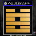 Snake Eyes Clan Logo D2 Decal Sticker Gold Metallic Vinyl 120x120