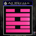 Snake Eyes Clan Logo D2 Decal Sticker Neon Pink Vinyl 120x120