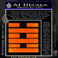 Snake Eyes Clan Logo D2 Decal Sticker Orange Emblem 120x120