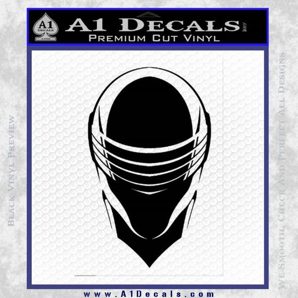 Snake Eyes GI Joe Helmet Decal Sticker Black Vinyl