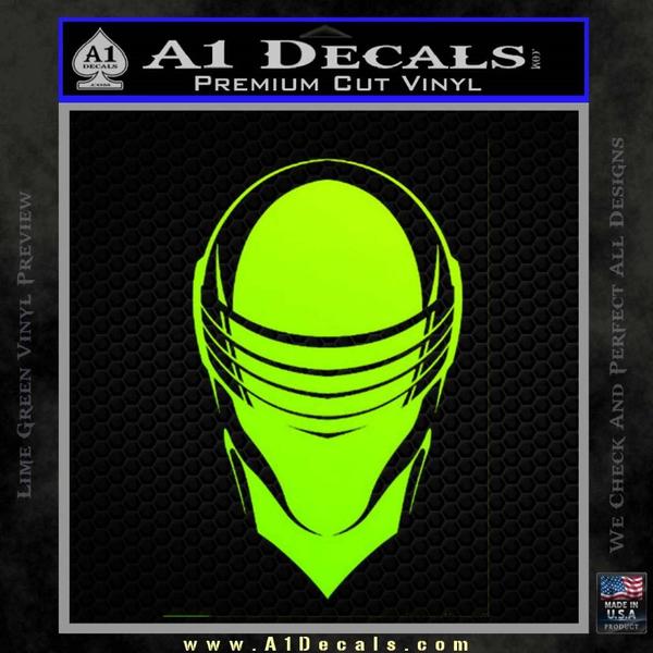 Snake Eyes Gi Joe Helmet Decal Sticker A1 Decals