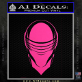 Snake Eyes GI Joe Helmet Decal Sticker Neon Pink Vinyl 120x120