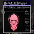 Snake Eyes GI Joe Helmet Decal Sticker Soft Pink Emblem 120x120