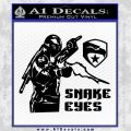 Snake Eyes GI Joe Ninja Decal Sticker rr Decal Sticker Black Vinyl 120x120