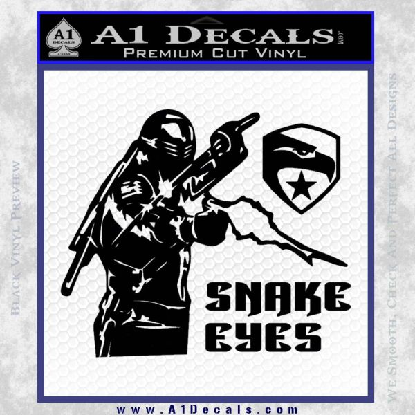 Snake Eyes GI Joe Ninja Decal Sticker rr Decal Sticker Black Vinyl