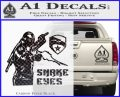 Snake Eyes GI Joe Ninja Decal Sticker rr Decal Sticker Carbon FIber Black Vinyl 120x97