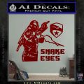 Snake Eyes GI Joe Ninja Decal Sticker rr Decal Sticker DRD Vinyl 120x120