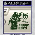 Snake Eyes GI Joe Ninja Decal Sticker rr Decal Sticker Dark Green Vinyl 120x120