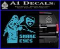 Snake Eyes GI Joe Ninja Decal Sticker rr Decal Sticker Light Blue Vinyl 120x97