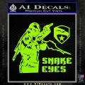 Snake Eyes GI Joe Ninja Decal Sticker rr Decal Sticker Lime Green Vinyl 120x120