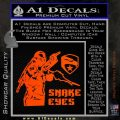 Snake Eyes GI Joe Ninja Decal Sticker rr Decal Sticker Orange Emblem 120x120