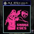 Snake Eyes GI Joe Ninja Decal Sticker rr Decal Sticker Pink Hot Vinyl 120x120