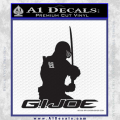 Snake Eyes GI Joe Sword Decal Sticker Black Vinyl 120x120