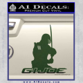 Snake Eyes GI Joe Sword Decal Sticker Dark Green Vinyl 120x120