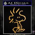 Snoopy Woodstock Decal Sticker Gold Metallic Vinyl 120x120