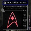 Startrek Medical New Movie Decal Sticker Pink Emblem 120x120