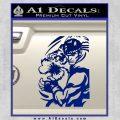 Street Fighter Ryu Fireball Decal Sticker Blue Vinyl 120x120