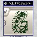 Street Fighter Ryu Fireball Decal Sticker Dark Green Vinyl 120x120