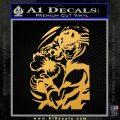 Street Fighter Ryu Fireball Decal Sticker Gold Vinyl 120x120