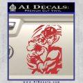 Street Fighter Ryu Fireball Decal Sticker Red 120x120
