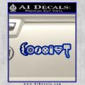 Superhero Coexist D2 Decal Sticker Blue Vinyl 120x120